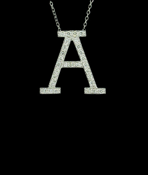 KC Diamond All Star Initial Necklace