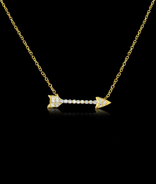 KC Arrow Diamond Necklace