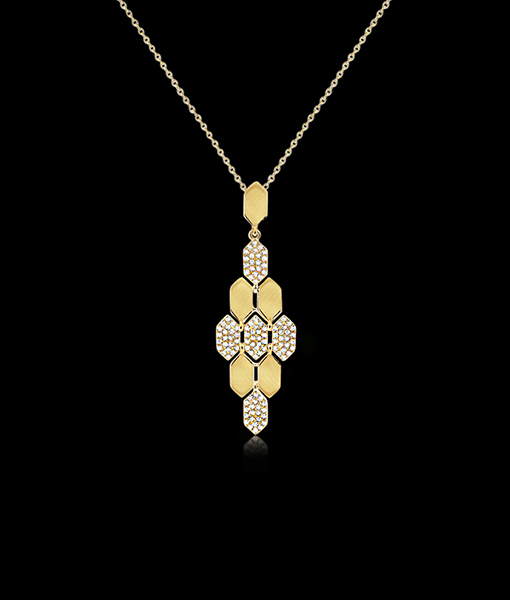 KC Designs Honeycomb Diamond Pendant Necklace