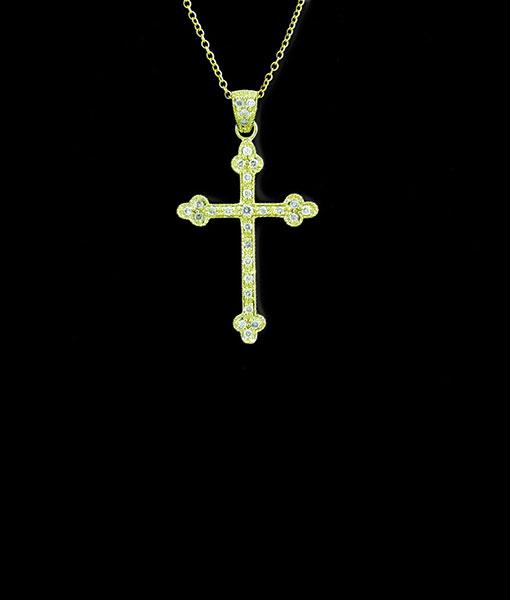 Kc Diamond Cross Necklace