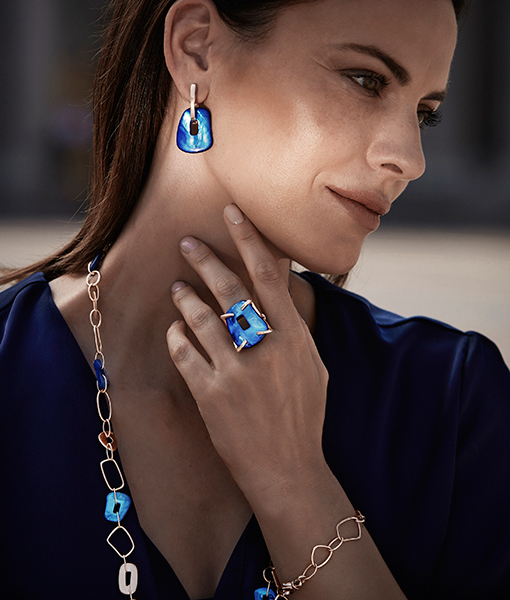 Mattioli Puzzle collection - Large Earrings and Ring