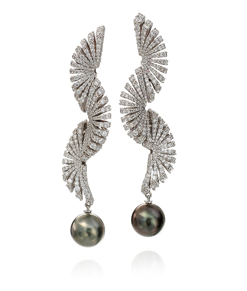 Miseno Pearl Diamond Earrings