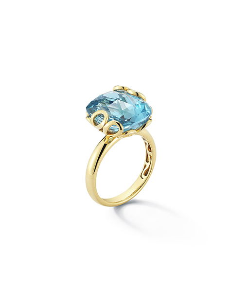 Miseno Sea Leaf Blue Topaz Ring