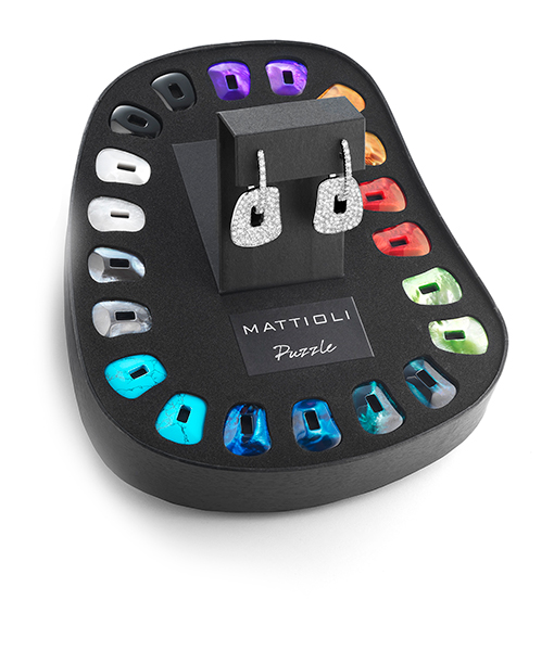 Mattiolli Large Puzzle Diamond Earring with Maxi Kit
