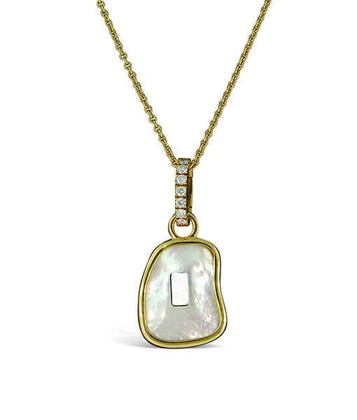 Mattioli Pearl Pendant Yellow Diamond Bail