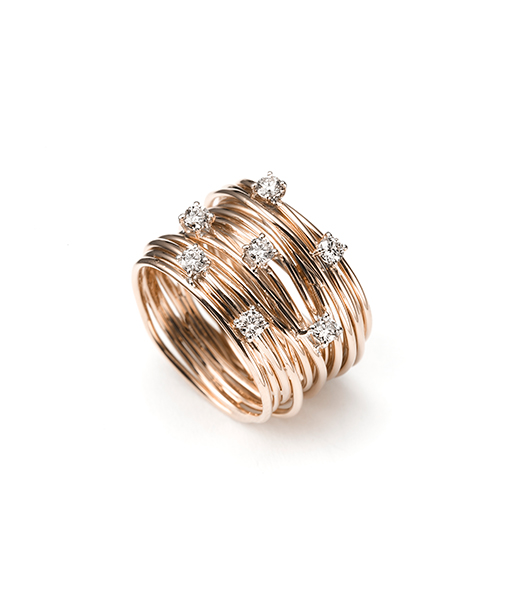 Mattioli Endless Cord Tibet Ring with Diamonds