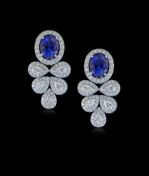 Nini Blue Sapphire Diamonds Earrings