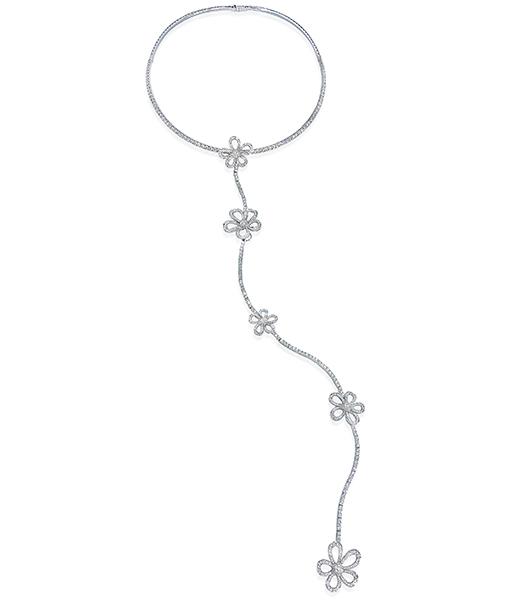 Nini Flower Diamond Necklace