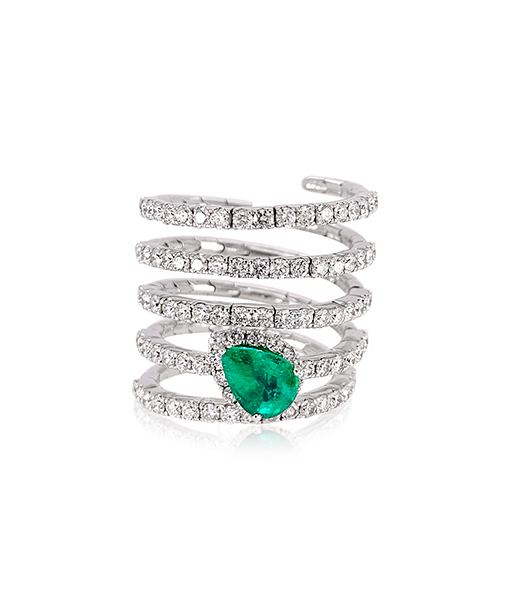 Nini Spring Emerald Ring