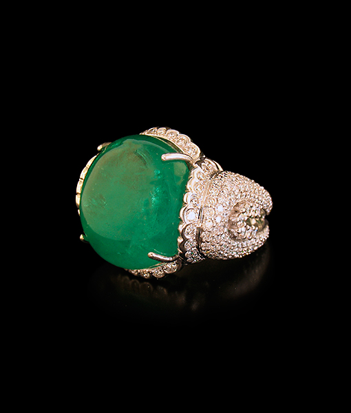 Nini Emerald Diamond Ring