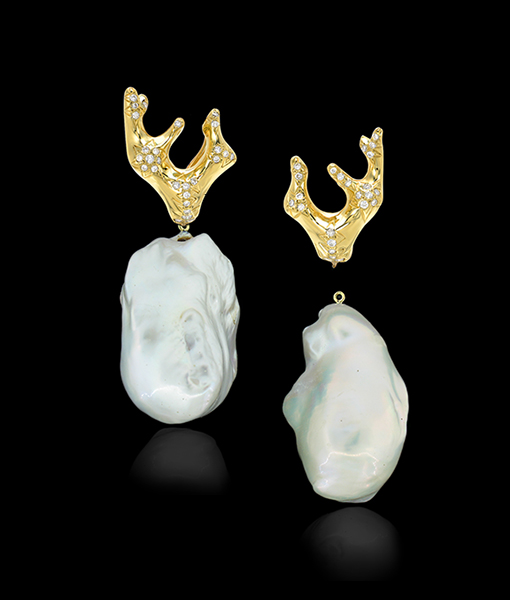 Cayen Collection Baroque Freshwater Pearl Drops