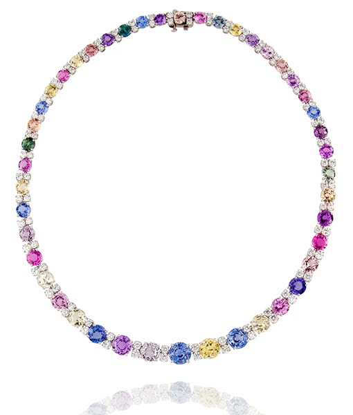 Oscar Heyman Sapphire and Diamond Necklace