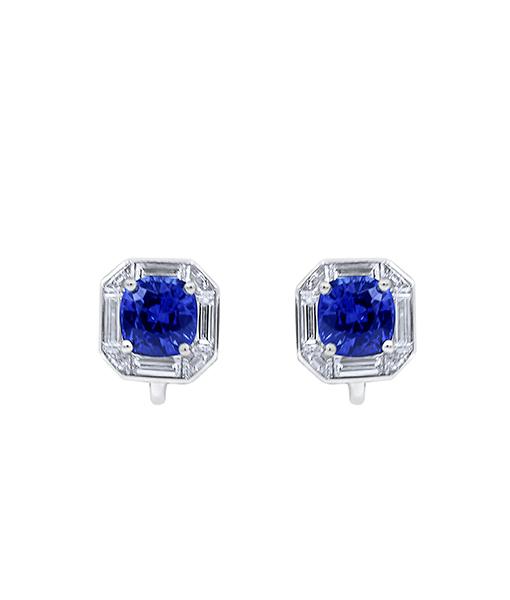 Oscar Heyman Sapphire and Diamond Earrings