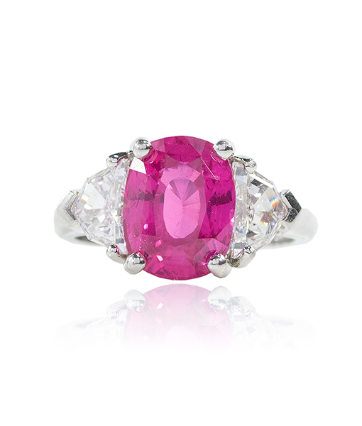 Oscar Heyman Pink Sapphire and Diamond Ring