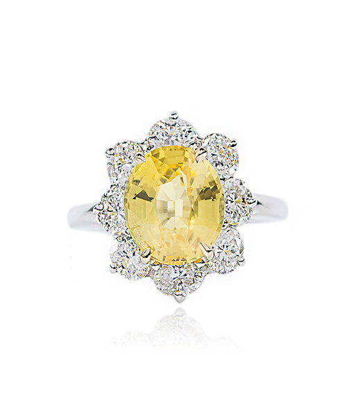 Oscar Heyman Yellow Sapphire and Diamond Ring