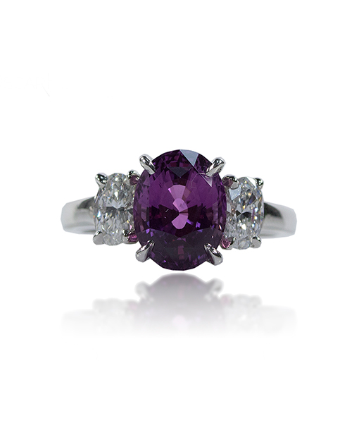 Oscar Heyman Purple Sapphire and Diamond Ring