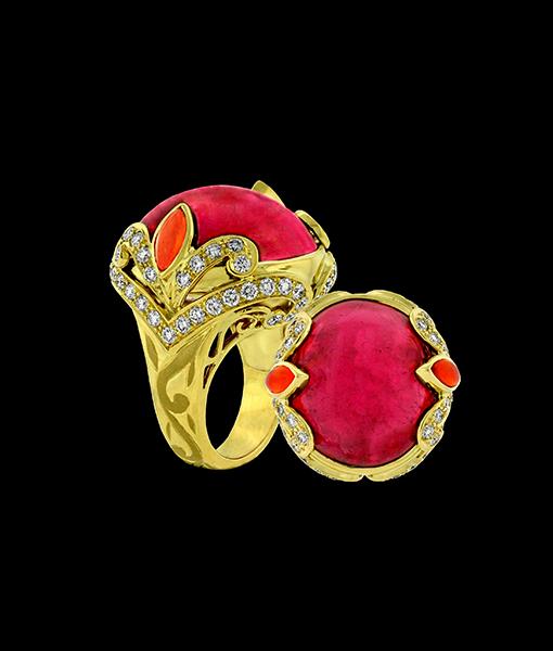 Paula Crevoshay Tourmaline Ring