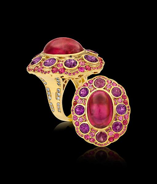 Paula Crevoshay Rubilite Garnet Ring