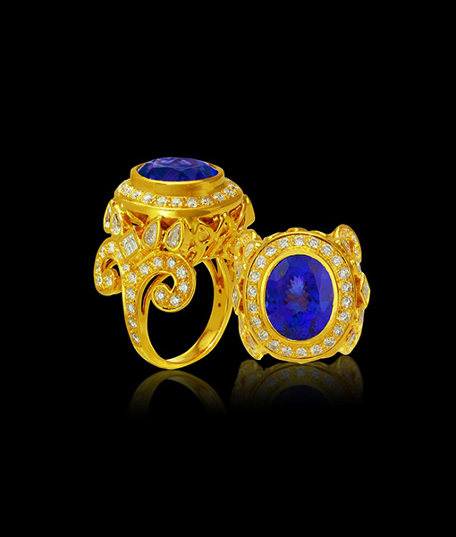 Paula Crevoshay Lighting's Gift Tanzanite and Diamond Ring