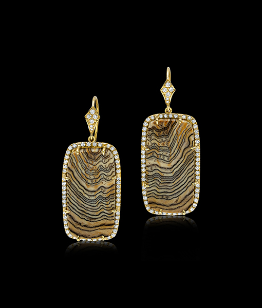 Pamela Huizenga Sequoia Diamond Earrings