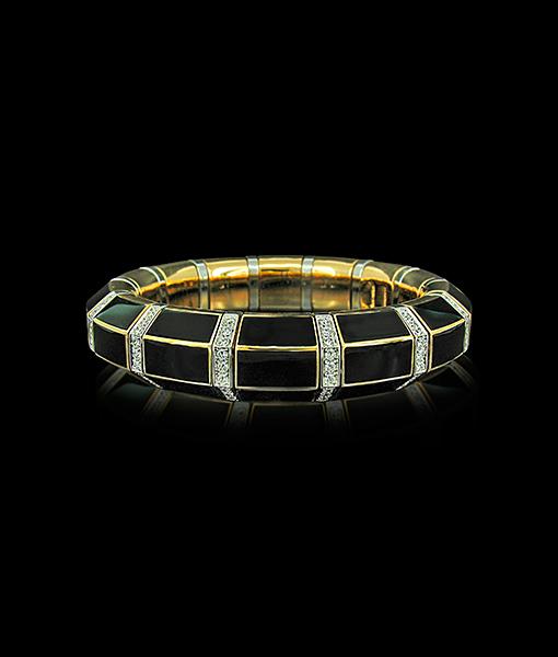 Picchiotti Xpandable Black Enamel Bracelet