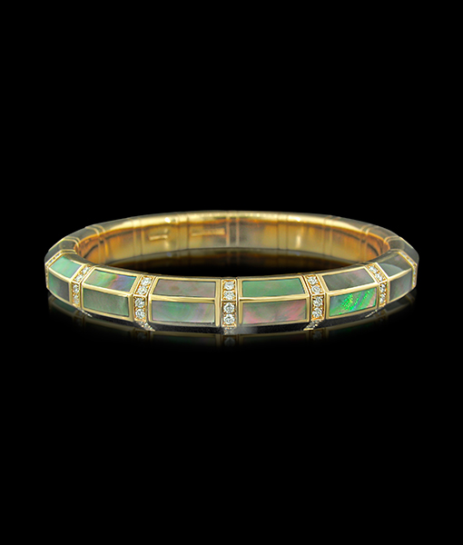 Picchiotti Xpandable Green Mother of Pearl Bracelet