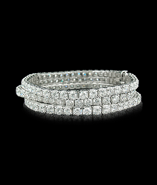 Picchiotti Xpandable Three Row Diamond Bracelet