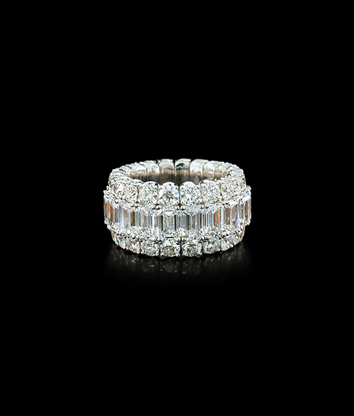 Picchiotti 'Xpandable' Baguette Diamond Ring