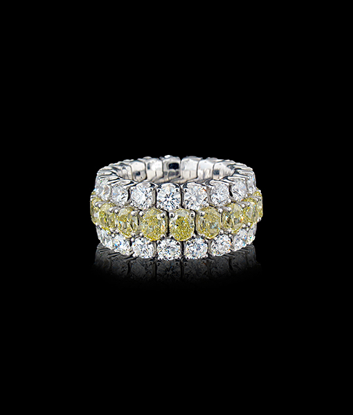Picchiotti Fancy Xpandable Yellow Diamond Ring