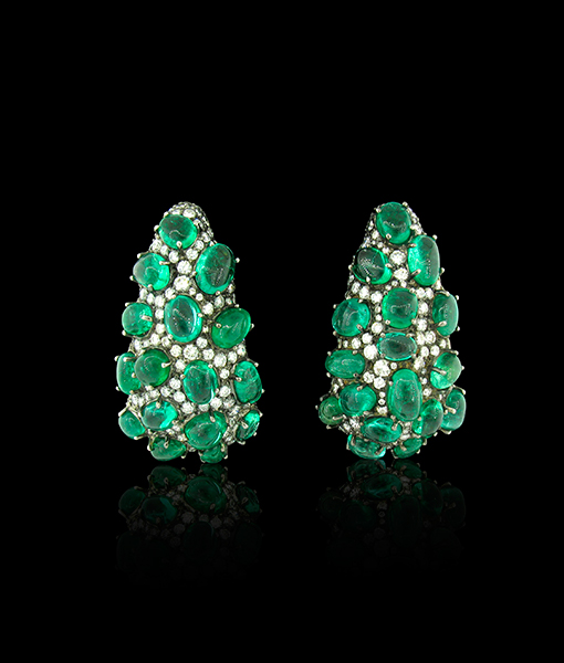 Arunashi Emerald and Diamond Earrings