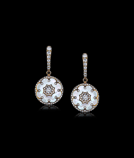Arunashi Diamond and Mother of Pearl Earrings