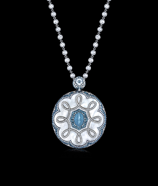 Arunashi Aquamarine and Diamond Pendant