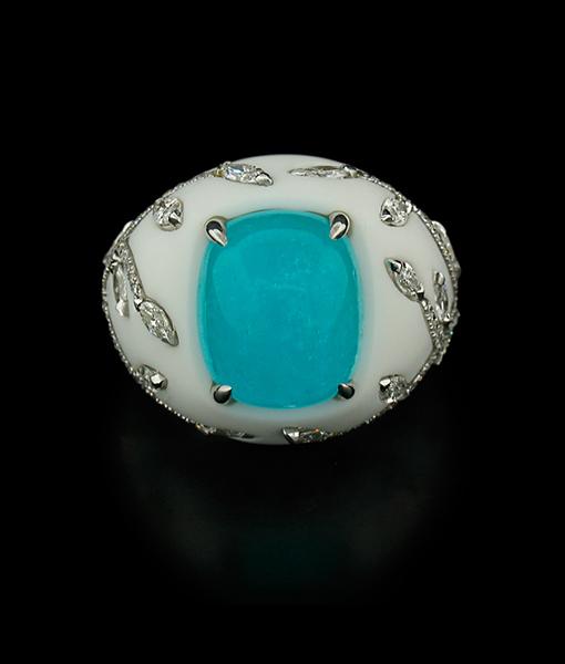 Paraiba Corian Ring