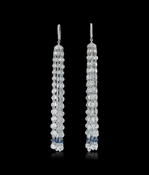 Diamond Cascade Earrings