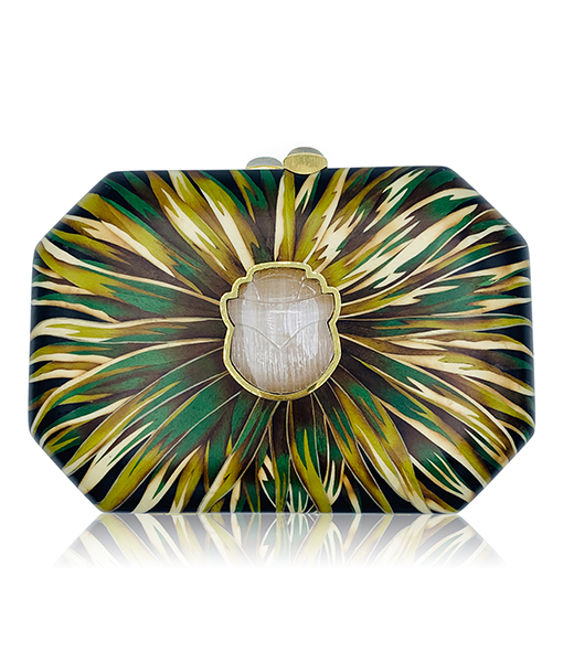 Silvia Furmanovich Clutch Selenite Scarab