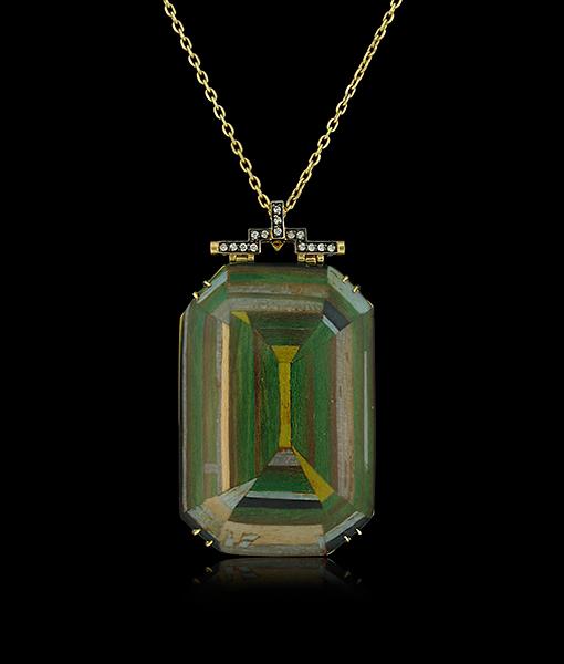 Silvia Furmanovich Green Geometric Pendant