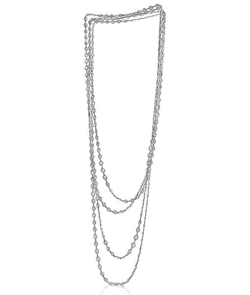 Siegelson Platinum Diamond Chain Necklace