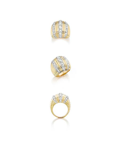 Belperron Diamond Godrons Ring