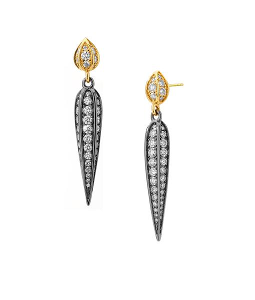 Syna Silver Stick Mogul Earrings