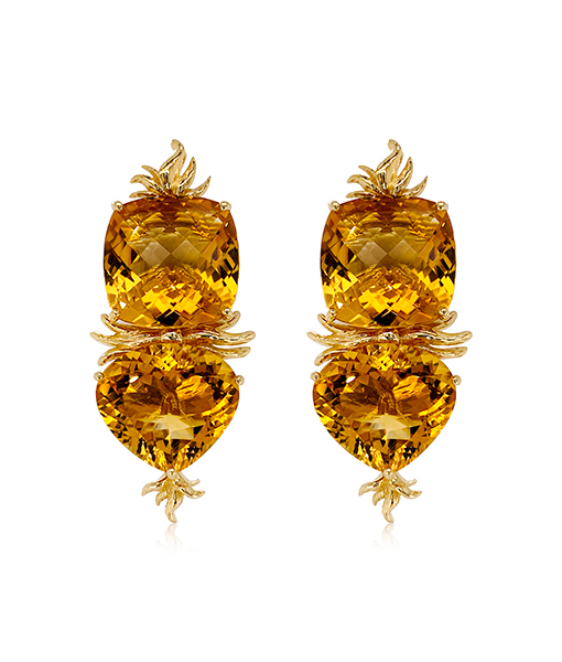 Tony Duquette Citrine Earrings