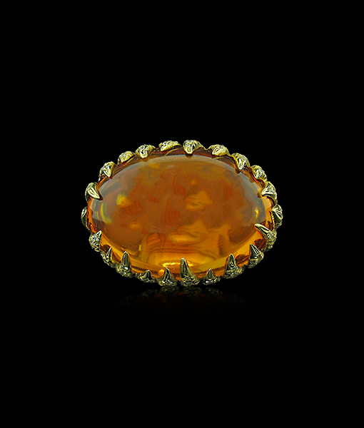 Tony Duquette Cabochon Citrine Ring
