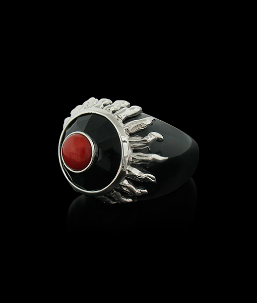 Tony Duquette Black Onyx Ring