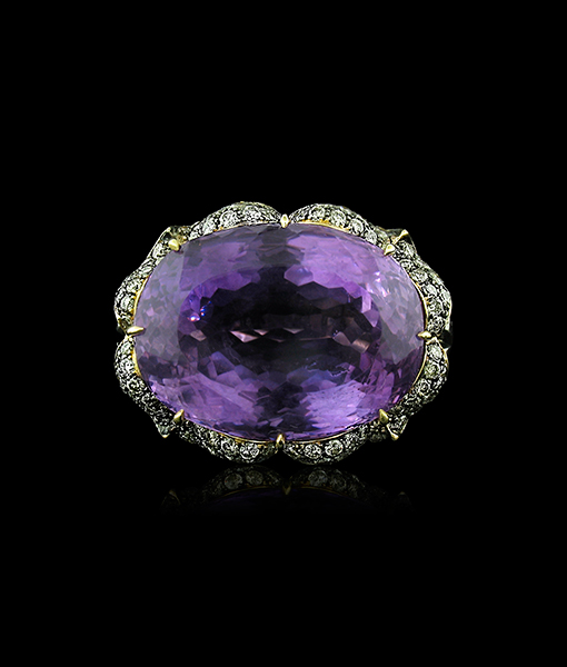 Tony Duquette Amethyst and Diamond Ring SOLD!