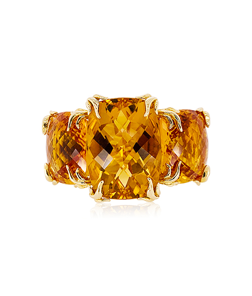 Tony Duquette Citrine Ring