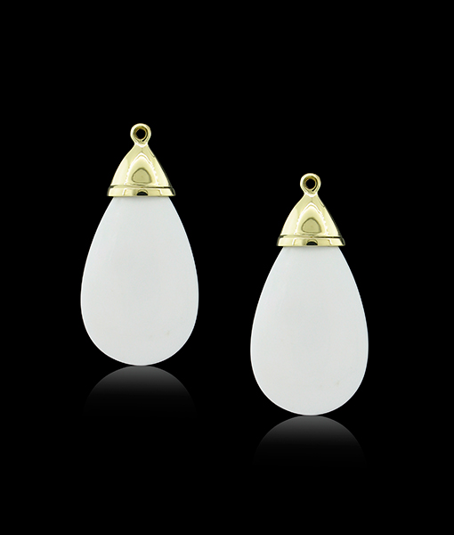 Cayen Collection Cacholong Earring Drops