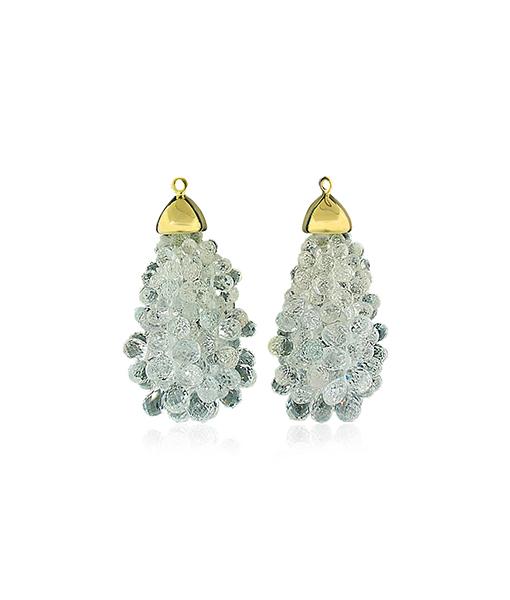 Victor Velyan Clear Sapphire Earring Drops