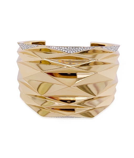 Vhernier Plisse Diamond and Gold Bracelet