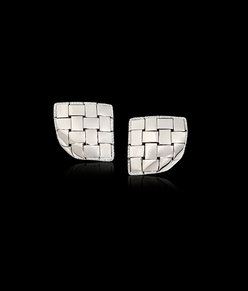 Vhernier Giunco Due Palladium Diamond Earrings