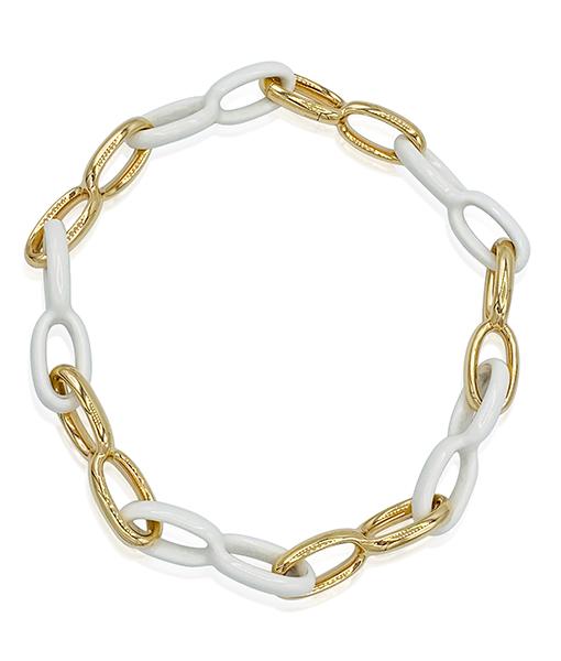 Vhernier Kogolon Vague Link Necklace Short