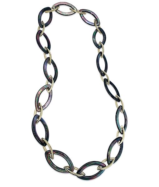 Vhernier MOP Leaf Link Necklace